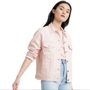 Levi's Ex-Boyfriend Trucker Jacket in Peachy Pink